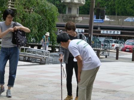 高野山 金剛峯寺での杖先ゴムの無料交換・杖の点検相談会